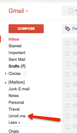 How can I search for a specific email in my Rollup archives